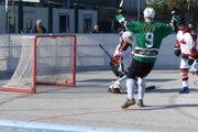 Úvodný gól stretnutia Hokejmarket Skalica - Jokerit Petržalka (5:2).