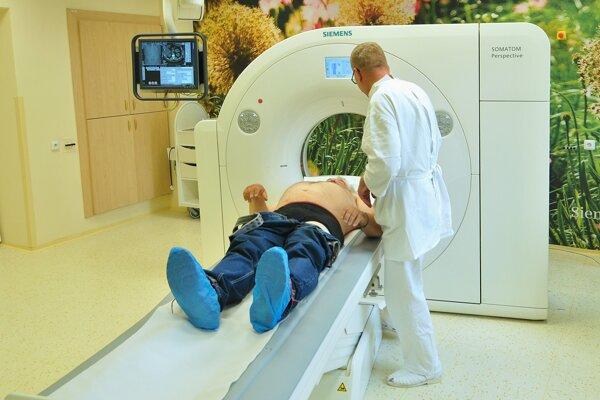 Nový CT prístroj v ľubovnianskej nemocnici.