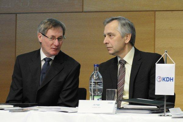 Pavol Hrušovský a Ján Figeľ.