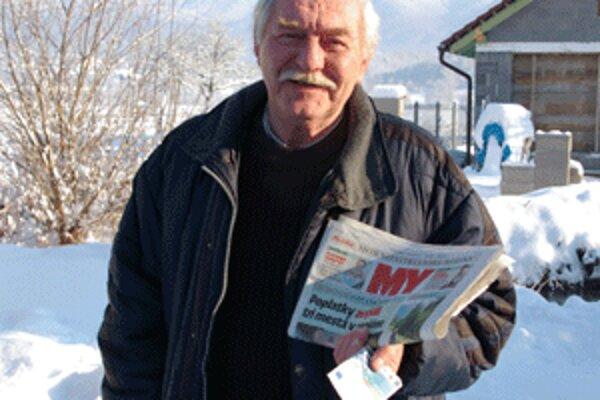 Anton Plachý chce výhru podeliť, radosť určite urobí vnukovi.