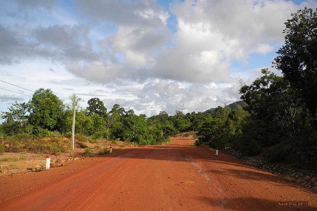 Cesty sú na Phu Quoc zvyčajne prašné, ale dajú sa v pohode zdolávať.
