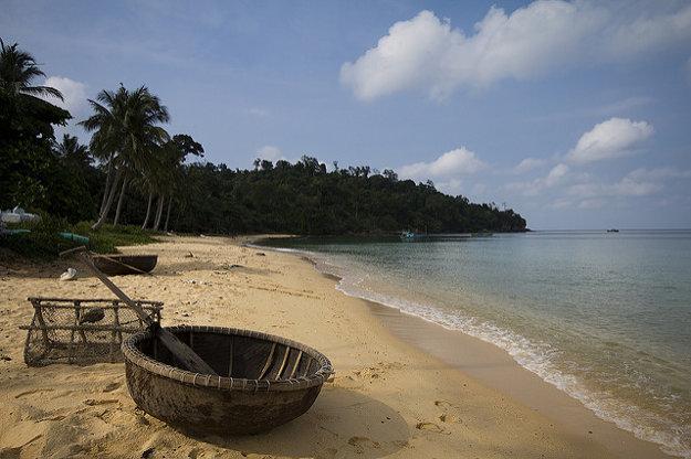 Časť pláže Ganh Dau na severozápadnom pobreží Phu Quoc.