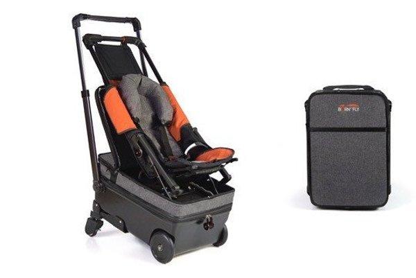 Kombinácia kufra a kočíka rieši mnohé problémy pri cestovaní s malými deťmi na letisku.
