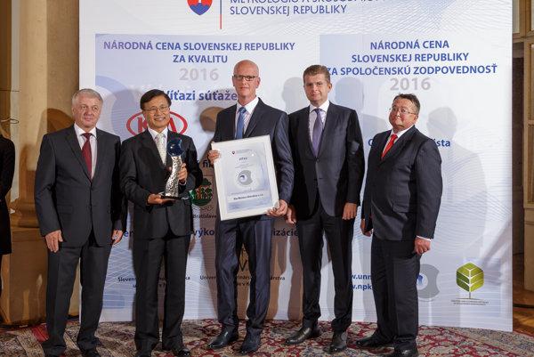 Kia Motors Slovakia získala Národnú cenu za kvalitu.