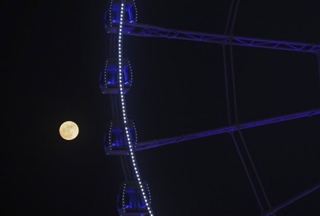 Supermoon v Hong Kongu.
