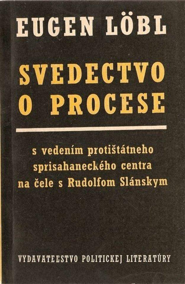 Obálka knihy Svedectvo o procese.