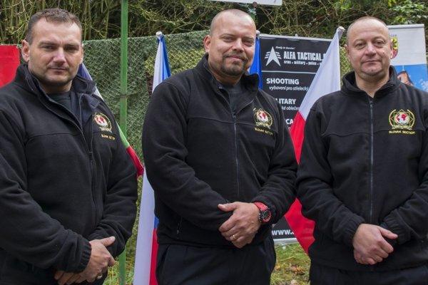 Strelci (zľava): Peter Karásek, Peter Melicher, Jaroslav Bystriansky.