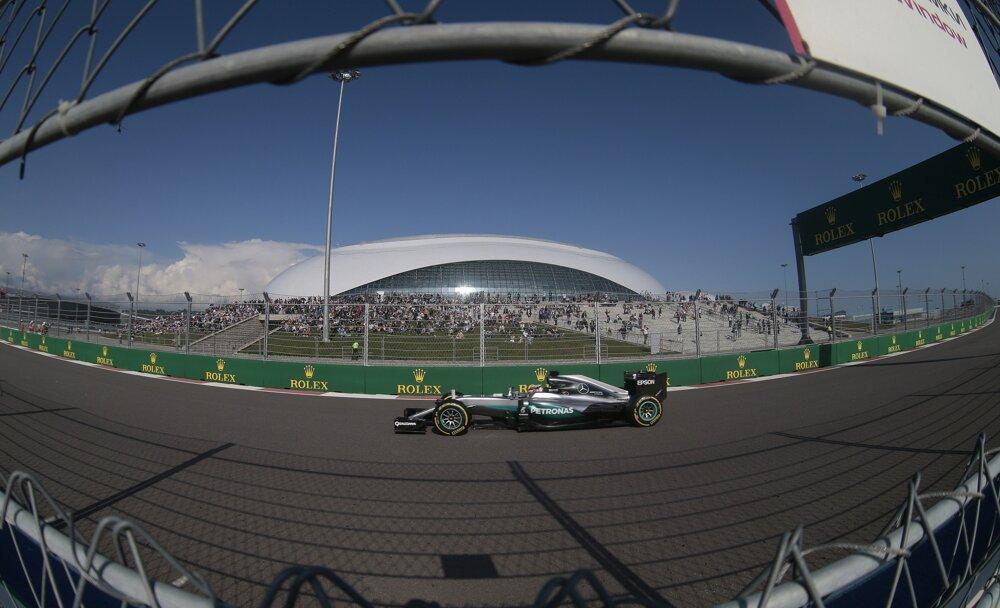 Nico Rosberg na Veľkej cene Ruska v Soči.
