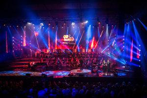 Veľké koncertné štúdio Slovenského rozhlasu počas galavečera RTVS pri príležitosti oslavy 90. výročia rozhlasového vysielania.
