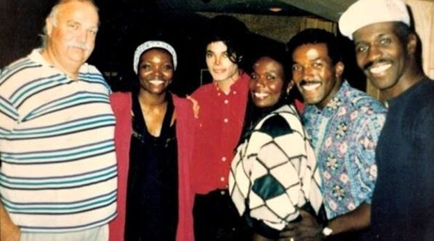 S Michaelom Jacksonom.