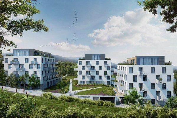 V súčasnosti sú v predaji dva z troch päťposchodových viladomov.