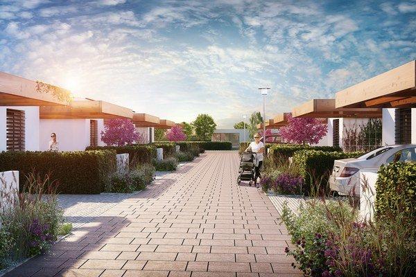 Nové domy budú mať štyri izby.