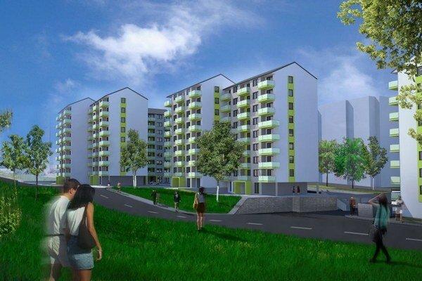 Výstavbu dvoch osemposchodových domov na pozemku s rozlohou 7 000 štvorcových metrov začal developer v lete 2014.