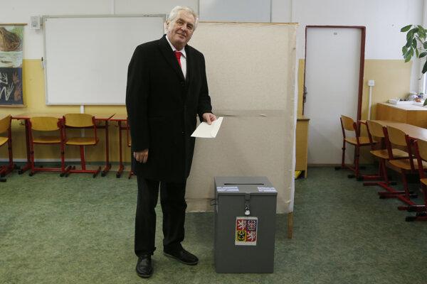 Miloš Zeman pri voľbách v roku 2013.