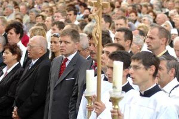 Premiér Robert Fico na púti v Šaštíne.