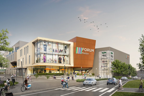 Takto by malo vyzerať nové obchodné centrum v Prešove.