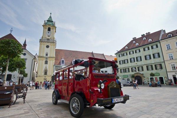 Bratislavské vyhliadkové auto.