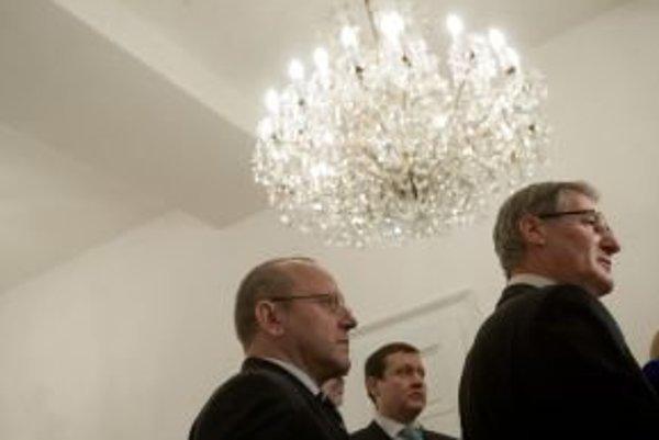 Pavol Abrhan , Daniel Lipšic a Pavol Hrušovský.