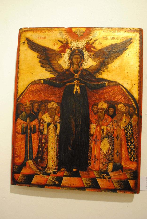 Matka Božia skrídlami.