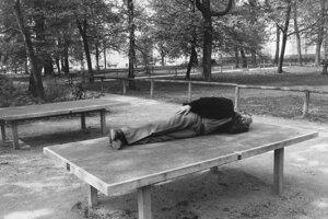 Mníchovská kultúrna situácia (U.F.O.), č/b fotografia, 1991