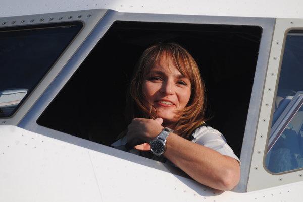 Slovenská pilotka Andrea Sabol