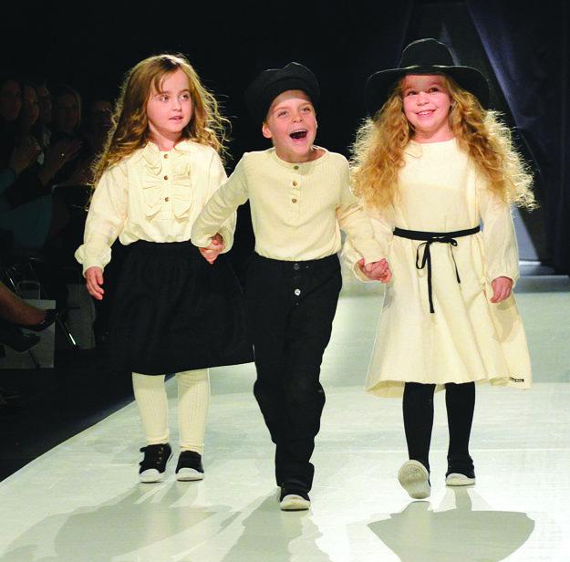 Trojičky Habasové. Nelka, Ninka a Nicolas si publikum získali roztomilosťou.