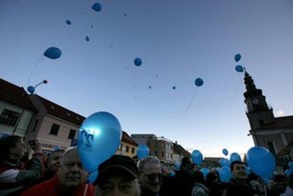 SDKÚ začala kampaň v Modre.