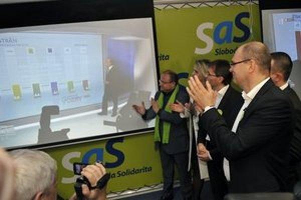Exit poll MVK predpovedal pre SaS sedem percent.