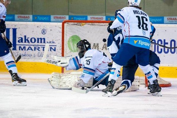 Fínsky legionár Pulli v presilovke otvoril gólový účet Martina. takto vyrovnal na 1:1.