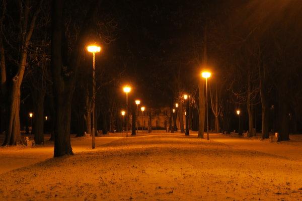 Mestský park v Piešťanoch.