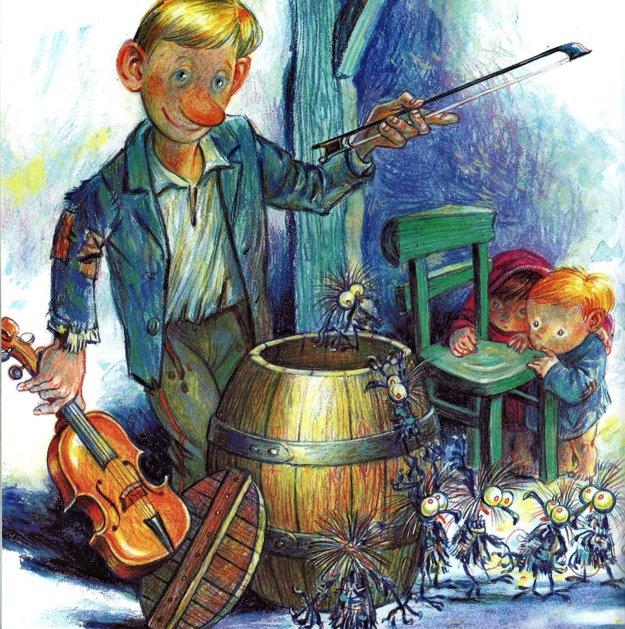 Stanislav Lajda ilustroval aj knihu Kysucké rozprávky od autora Antona Pajonka.