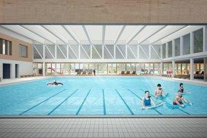 Víťazný návrh - bazénová hala.