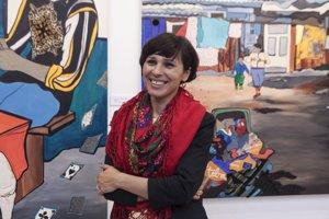 Małgorzata Mirga-Tas bola vyznamenaná na 42. Bienále maľby Bielska jeseň 2015.