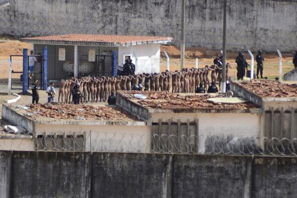 Potlačenie väzenskej vzbury v jednej z brazílskych väzníc.
