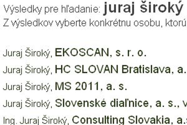 Firmy Juraja Širokého získali od roku 2005 na verejnom obstarávaní takmer 170 miliónov eur bez DPH.