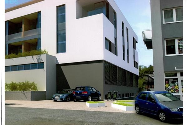 Vizualizácia budúceho apartmánového domu.