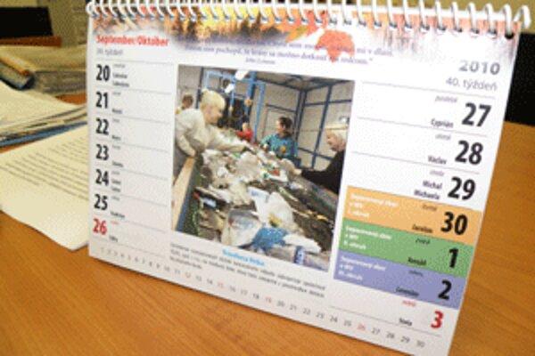 Kalendár navádza Prievidžanov, ako separovať.