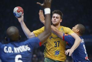 Hádzanári Ruska si vo štvrtkovom súboji MS vo Francúzsku pripísali tretie víťazstvo v A-skupine, keď zdolali Brazíliu 28:24. Ilustračná foto.