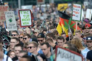 Pochod za legalizáciu marihuany v Nemecku.