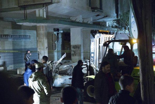 Miesto výbuchu blízko talianskej ambasády.