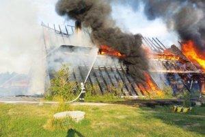 Koliba na výstavisku Agrokomplex zhorela začiatkom júla.