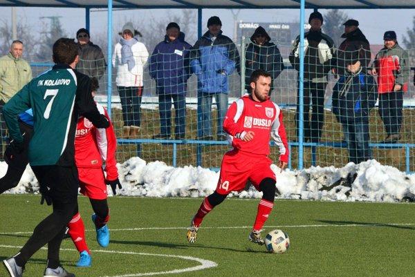 Matúš Kochan strelil včera všetky tri góly Šale.