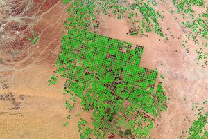 Voda, ktorá sa ukrývala pod pieskom tisícky rokov umožnila Saudskej Arábii premeniť púšť v údolí Sirhán na produktívne farmy. Niektoré kruhové polia majú priemer až jeden kilometer. Dážď v regióne nestíha dopĺňať podzemné vody a hydrológovia odhadujú, že čerpať budú môcť už len ďalších 50 rokov.