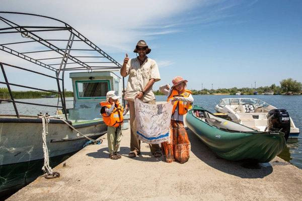 Matej Žiak so svojimi deťmi.