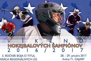 Víkend hokejbalových šampiónov tento víkend v Gajaroch.