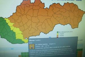 Aj v Levickom okrese budú arktické mrazy.