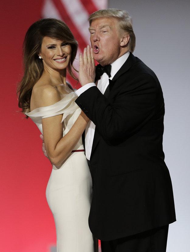 Prezidentský pár. Spoznali sa na párty, keď Melania bola ešte modelka.