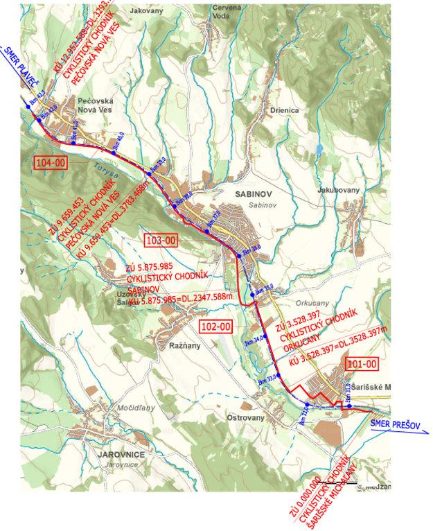 EuroVelo 11. Vizualizácia plánovanej trasy.