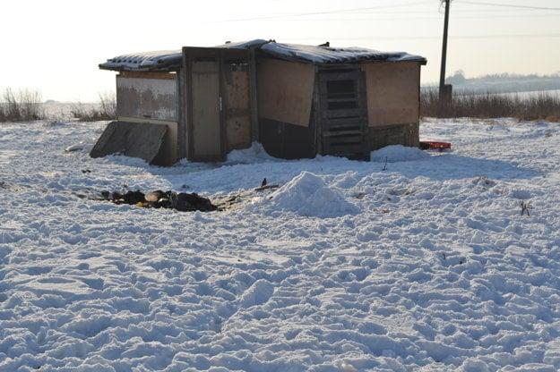 Za bytovkami si pozbíjali provizórne latríny.
