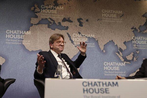 Belgický expremiér Guy Verhofstadt, ktorý je zároveň vyjednávačom europarlamentu pre brexit.